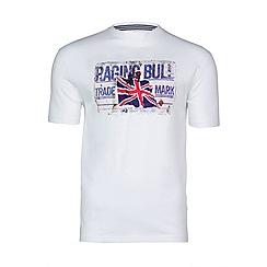 Raging Bull - White RB metal plate tee