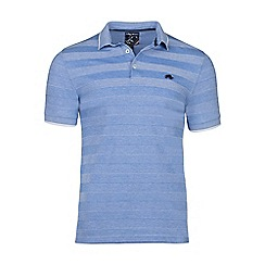 Raging Bull - Mid blue texture stripe polo