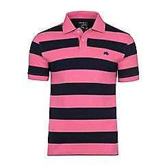 Raging Bull - Navy and pink large hoop polo