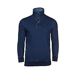 Raging Bull - Indigo button funnel neck sweat