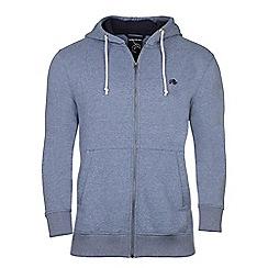 Raging Bull - Mid blue RB zip through hoody