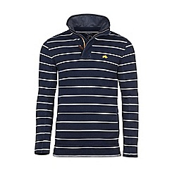 Raging Bull - Navy and white stripe jersey 1/4th zip