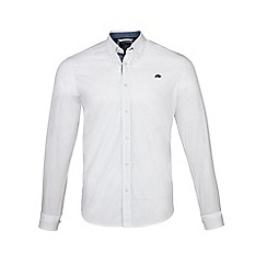 Raging Bull - White long sleeves plain poplin shirt