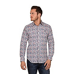 Raging Bull - Pink long sleeves floral print shirt