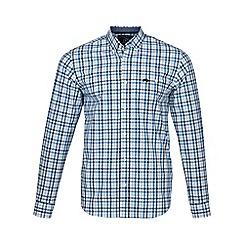 Raging Bull - Blue long sleeves 3 colour poplin gingham shirt