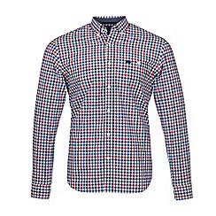 Raging Bull - Red long sleeves 3 colour poplin gingham shirt