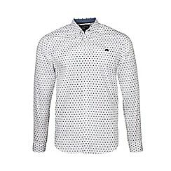 Raging Bull - White long sleeves ditsy print shirt