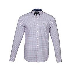 Raging Bull - Pink long sleeves window pane check shirt
