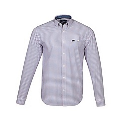 Raging Bull - Pink long sleeves window pane check shirt
