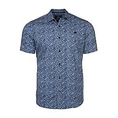 Raging Bull - Navy short sleeves floral print shirt