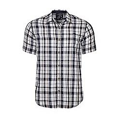 Raging Bull - Khaki short sleeves check poplin shirt
