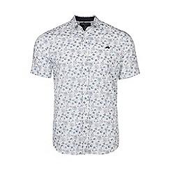 Raging Bull - White short sleeves floral print shirt