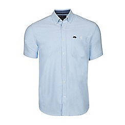 Raging Bull - Sky blue short sleeves cotton oxford shirt