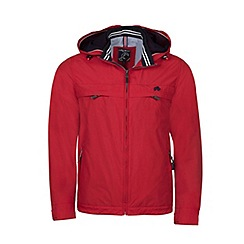 Raging Bull - Red showerproof hooded jacket