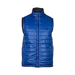 Raging Bull - Cobalt and navy reversible hooded gilet