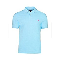 Raging Bull - Sky blue fly fit plain polo