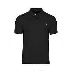 Raging Bull - Black fly fit plain polo