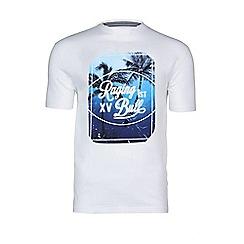 Raging Bull - Palm tree t-shirt - white