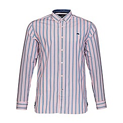Raging Bull - Pink stripe Oxford shirt