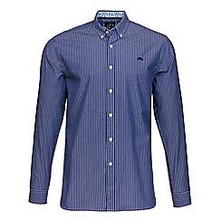 Raging Bull - Mid blue Bengal stripe shirt