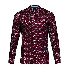 Raging Bull - Wine floral print shirt