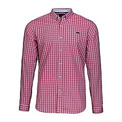 Raging Bull - Vivid pink small check shirt