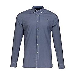 Raging Bull - Navy micro gingham shirt
