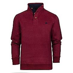 Raging Bull - Claret jersey button neck sweater