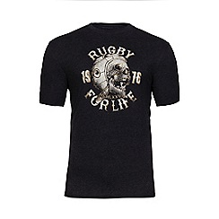 Raging Bull - Charcoal rugby for life t-shirt