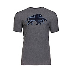 Raging Bull - Grey Union Jack applique t-shirt