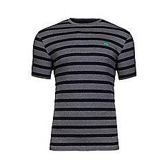 Raging Bull - Grey marl Breton stripe t-shirt