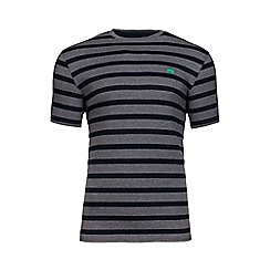 Raging Bull - Grey marl Breton stripe t-shirt