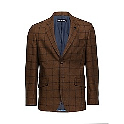 Raging Bull - Brown window pane check blazer