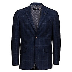 Raging Bull - Navy tweed overcheck blazer