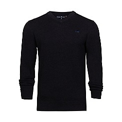 Raging Bull - Black V-neck cotton sweater