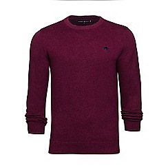 Raging Bull - Burgundy crew neck cotton sweater
