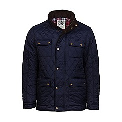 Raging Bull - Navy quilted field jacket
