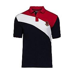 Raging Bull - Navy diagonal sash polo shirt