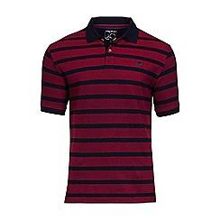 Raging Bull - Red birdseye stripe polo shiirt