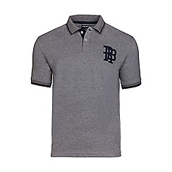 Raging Bull - Dark grey RB monogram polo shirt