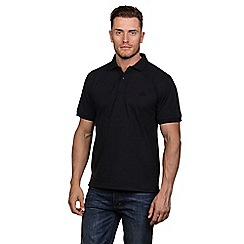Raging Bull - Black marl plain jersey polo shirt