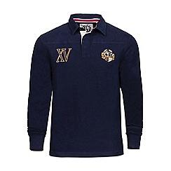 Raging Bull - Navy XV crest rugby shirt
