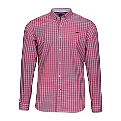 Raging Bull - Vivid Pink small check shirt