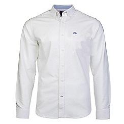 Raging Bull - White signature oxford long sleeve shirt