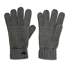Raging Bull - Charcoal cable knit gloves