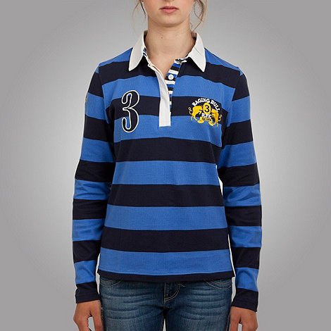 Raging Bull - Blue hoop rugby top