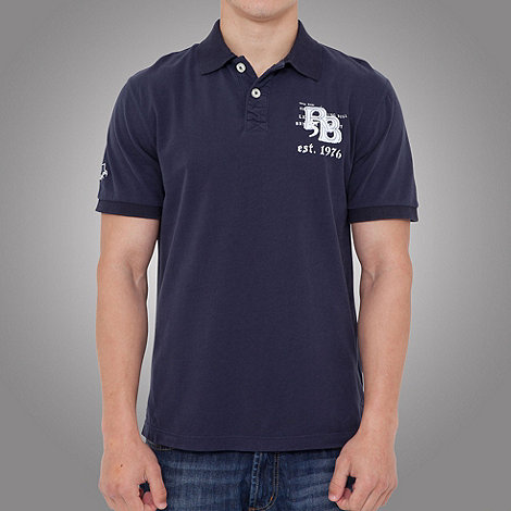 Raging Bull - Rb applique jersey polo- navy blue