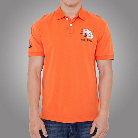Raging Bull - RB Applique Jersey Polo- Orange