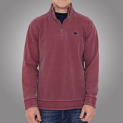 Raging Bull - Plain 1/4 zip top-strawberry