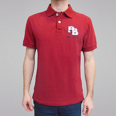 Raging Bull - Rb Applique Polo - Wine